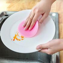 Esponja de Silicone Antibacteriana Lava Louça Multiuso Rosa - Mundiart -