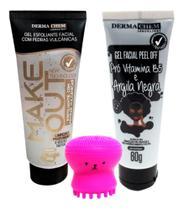 Esponja Limpeza Polvo + Gel Esfoliante Facial + Argila Negra - Dermachem