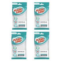 Esponja Mágica Flash Limp - Kit com 4 unidades - Flashlimp