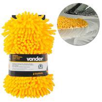 Esponja Microfibra Dupla-Face Multiuso para Lavagem e Limpeza Amarelo Preto Vonder -