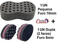 Esponja Twist 01 Pequena + 01 Dupla Afro Nudred Cabelo - Santa Clara -