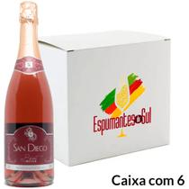 Espumante Brut Rosé San Diego 750ml - Caixa 6 - Castellamare
