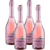 Espumante Moscatel Rosé 750ml Garibaldi Kit 4 -