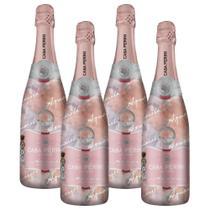 Espumante Moscatel Rosé Aquarela 750ml Casa Perini Kit 4 -