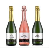 Espumante san martin 2 demi sec + 1 rose kit 3x 660ml -