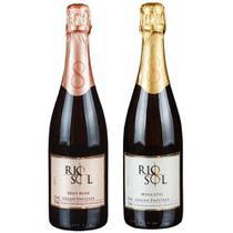 Espumantes Rio Sol 01 Brut Rose e 01 Moscatel - kit c/2 -