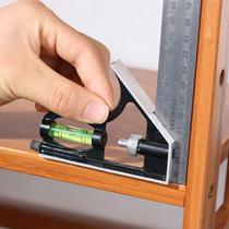 Esquadro Combinado 300mm com Nível Régua Carpinteiro - Titanium