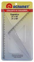 Esquadro em poliestireno 45 e 60 21cm 567.0 Acrimet -