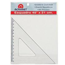 Esquadro Escolar Acrilico 45º X 21 CM Acrimet -