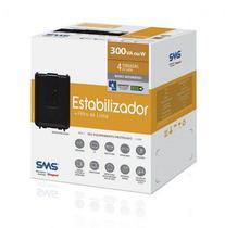 Estabilizador SMS Revolution Speedy 300va Bivolt 4 tomadas - 15970 -