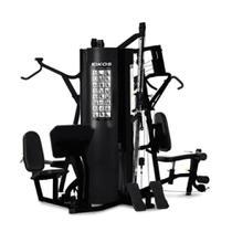 Estação de Musculação Kikos 518Bk Profissional 4 Torres 96KG -