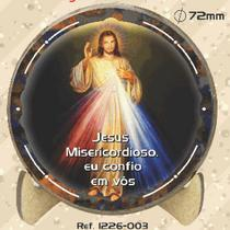 "Estampa com suporte para mesa ""jesus misericordioso"" - Armazem"