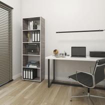 Estante armário multiuso cwb com 05 prateleiras - drw móveis - amadeirado carvalho smoked -