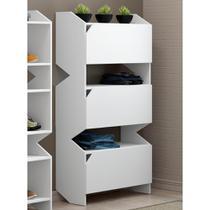 Estante com 3 Portas Soul 1005 Branco - Be mobiliário