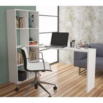 Estante com Escrivaninha Deneb Branca - Brv móveis