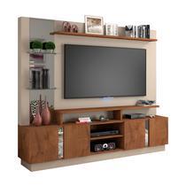 Estante Home 4 Portas Painel para Tv até 55 Polegadas com Espelho Munique Off White-savana  Permobili - Permóbili