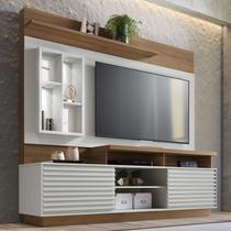 Estante Home com LED para TV até 65 Polegadas Eldorado Linea Brasil Off White/Nogueira -