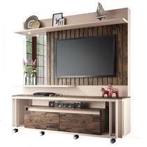 Estante Home Painel para TV até 60 Pol Eclipse Off White/Deck - HB Móveis -