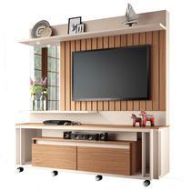 Estante Home Painel para TV até 60 Pol Eclipse Off White/Nature - HB Móveis -