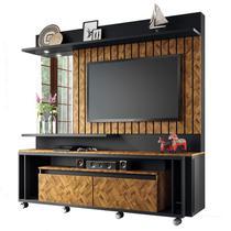 Estante Home Painel para TV até 60 Pol Eclipse Preto/Chevron - HB Móveis -