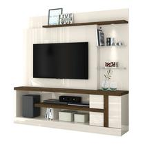 Estante Home Para TV 55 Polegadas Alan Off White Savana Madetec