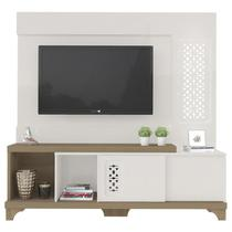 Estante Home Para TV 55 Polegadas Summer Off White Pinho Artely