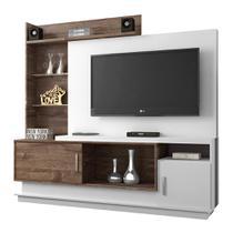 Estante Home para TV Adustina Branco/Chocolate - CHF - Chf móveis