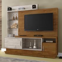 Estante Home para TV Adustina Caramelo/Champanhe - CHF - Chf móveis