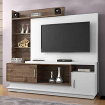 Estante Home para TV Adustina CHF Branco/ Chocolate