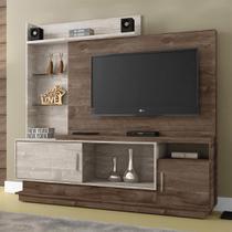 Estante Home para TV Adustina Chocolate/Champanhe - CHF - Chf móveis