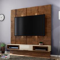 Estante Home para TV até 40 Polegadas Quadriculado LED TB125L Dalla Costa Nobre/Off White -
