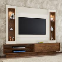 Estante Home para TV até 46 Polegadas 1 Porta de Correr LED TB129L Dalla Costa Nobre/Off White