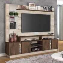 Estante Home para TV até 46 polegadas Veneza Siena Móveis Rústico/Café -