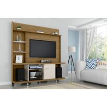 Estante Home para TV até 47 Polegadas 1 Porta Basculante Taurus Móveis Bechara Cinamomo/Off White -
