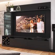 Estante Home Para TV até 50 Polegadas 1 Porta de Vidro Sorrento Quiditá Preto -
