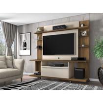 Estante Home para TV até 50 Polegadas 1 Porta New Torino Móveis Bechara Cinamomo/Off White -