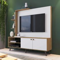 Estante Home para TV até 50 Polegadas 2 Portas Lov-It Retrô ES530 Decibal Naturalle Branco Off -