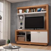 Estante Home para TV até 50 Polegadas 2 Portas Valença Colibri Móveis Natural Real/Off White -