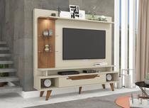 Estante Home para Tv Ate 55 Polegadas A 181,3 cm X L 180 cm X P 40 cm 1 Gaveta 5 Prateleiras Londres Off White/Savana - Permóbili -