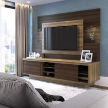 Estante Home para TV até 55 Polegadas Capuccino Móveis Florença Capuccino Wood / Ébano -