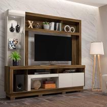 Estante Home para TV até 55 Polegadas com LED 2 Portas Iguatemi Colibri Móveis Canela Rústico/Off White -