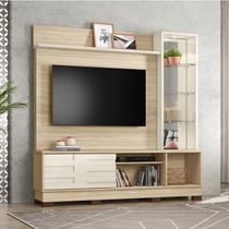 Estante Home para TV até 58 Polegadas Malta Belaflex Macchiato/Off White -