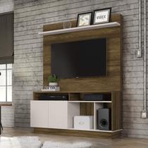 Estante Home para TV até 60 Polegadas 2 Portas Parati Colibri Móveis Canela Rústico/Off White -