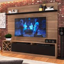 Estante Home para TV até 60 Polegadas Bianca Montana e Preto - Quiditá móveis