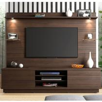 Estante Home para TV até 60 Polegadas Chicago Linea Brasil Chocolate Wood