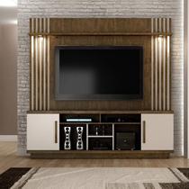 Estante Home para TV até 60 Polegadas com LED 2 Portas Esparta Siena Móveis -