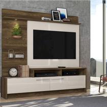 Estante Home para TV até 60 Polegadas Ipanema 2 Portas Colibri Canela Rústico/Off White -