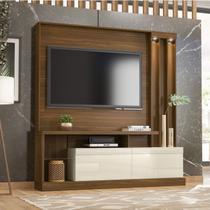 Estante Home para TV até 63 Polegadas 2 Portas Basculantes Atlanta Belaflex Freijó/Off White -