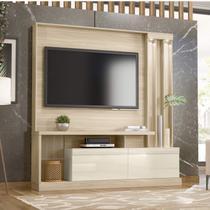 Estante Home para TV até 63 Polegadas 2 Portas Basculantes Atlanta Belaflex Macchiato/Off White -