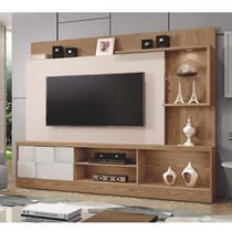 Estante Home para TV até 65 Polegadas 1 Porta Dinamarca Plus Mavaular Damasco Soft/Off White -